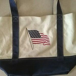American Flag Canvas Bag